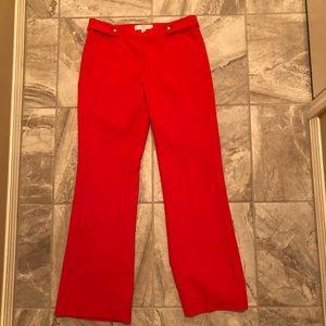 Loft red dress pants size 4P